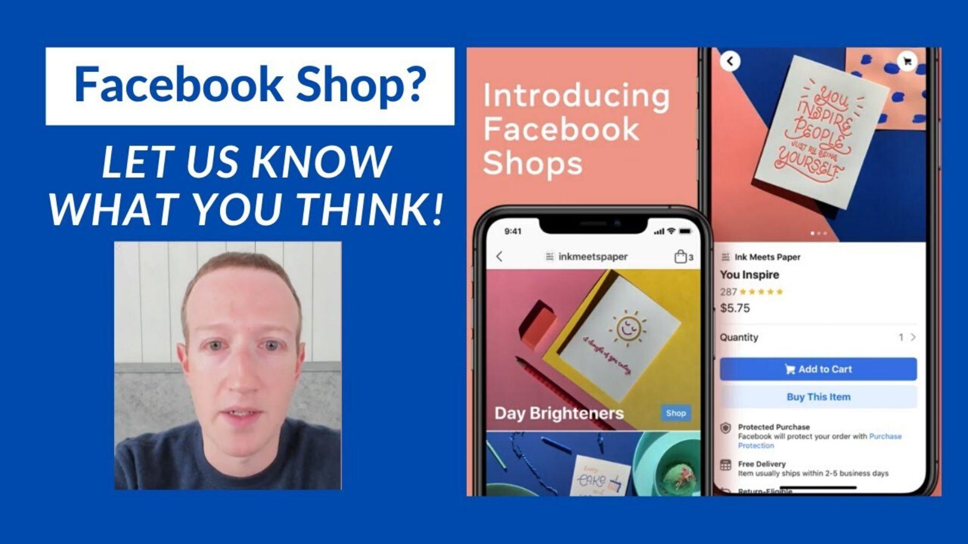 Facebook Shops débarque